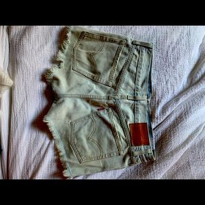 Levi 501 high waisted cutoff shorts